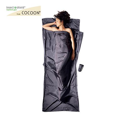 コクーン COCOON  Insect shield サファリトラベルシーツ シルク ライノグレー 12550025033000