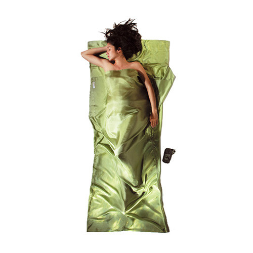 コクーン COCOON Insect shield サファリトラベルシーツ シルク サファイアグリーン 12550025408000