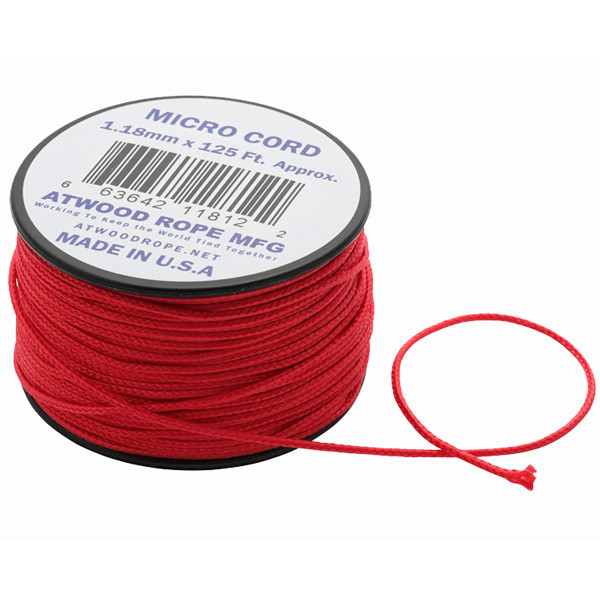 アトウッドロープ Atwood Rope マイクロコード レッド 44005