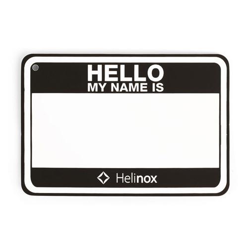 ヘリノックス Hello my name is パッチ ブラック 19759017001000