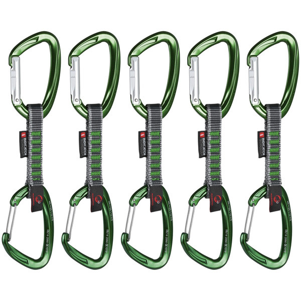 マムート 5er Pack Crag Indicator Wire Express Sets グリーン Straight Gate/Wire Gate 10cm 100g 2210-01400-3240