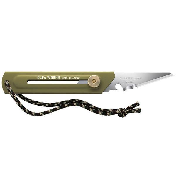 オルファワークス 替刃式ブッシュクラフトナイフ BK1 オリーブドラブ OW-BK1-OD
