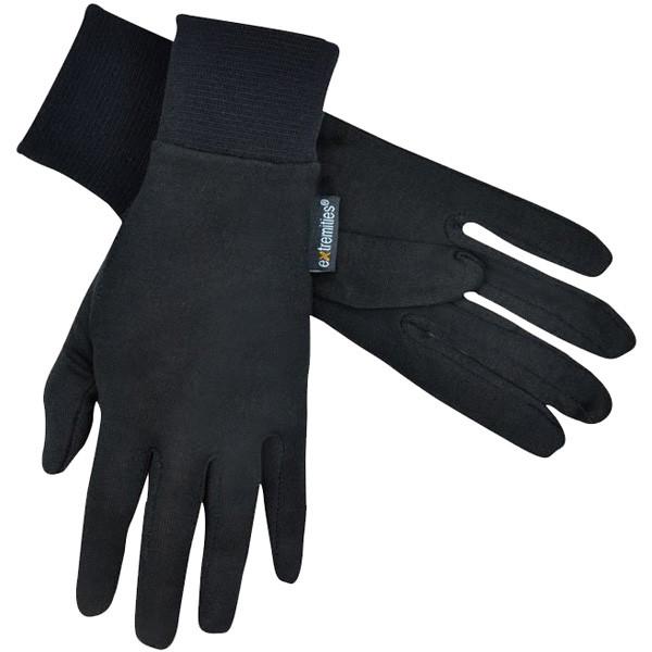 エクストリミティーズ by テラノヴァ 男女兼用手袋 シルクライナーグローブ ブラック Lサイズ 21SLG