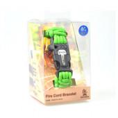 ブッシュクラフト ファイヤーコードブレスレット セーフティーグリーン Sサイズ 4573350720455