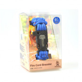 ブッシュクラフト ファイヤーコードブレスレット ロイヤルブルー Mサイズ 4573350720349