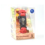 ブッシュクラフト ファイヤーコードブレスレット ソリッドレッド Mサイズ 4573350720387