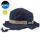 KAVU カブー キッズ ストラップバケットハット Pブルー Sサイズ 11864401917003