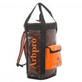 アーボプロ バケットバックパック 40L ブラウン×オレンジ AP0043