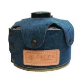シーアンドシー・ピー・エイチ・イクイップメント C&C.P.H. EQUIPEMENT デニムレザーOD缶ケース 250g ブルー CEV1707