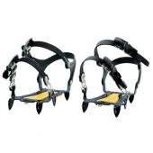 雪 滑り止め エバニュー 巾調節式6本爪アイゼン Sサイズ 22-24.5cm EBY015