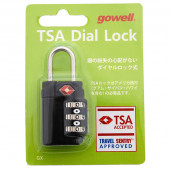 鍵 TSAダイヤルロックGX ブラック 1311