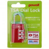 鍵 TSAダイヤルロックGX レッド 1312