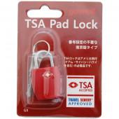 鍵 TSA南京錠GX レッド 1315