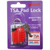 鍵 TSA南京錠LX レッド 1321