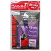 鍵 TSAミニワイヤーLX10cm レッド 1333