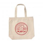 カブー KAVU シアトルロゴトートバッグ レッド 19821030034000