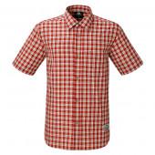 マウンテンイクイップメント SS タータンシャツ レッド 男性用 Sサイズ 421843-R00