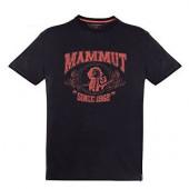 マムート MAMMUT 男性用Tシャツ スローパーTシャツ ブラック ユーロMサイズ(日本L)1041-02541-0001