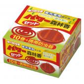 パワー森林香 10巻 携帯防虫器セット 01113