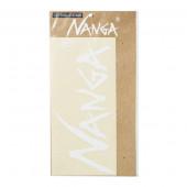 ナンガ NANGA ナンガ ロゴカッティングステッカー Lサイズ ホワイト N1STWHG2