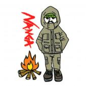 ナンガ×ウシオダヒロアキ ステッカー TAKIBI 焚き火 GFNU72