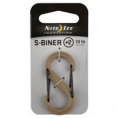 ナイトアイズ NITE IZE Sバイナープラスチック ブラックゲート #2 コヨーテ SBP2-03-28BG
