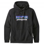 パタゴニア メンズ P-6ロゴ アップライザル フーディ ブラック ユーロXSサイズ(日本S)39539