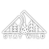 STICKERS NORTHWEST ステッカーズノースウエスト STAY WILD FIRE 0365-SDCS-WHT